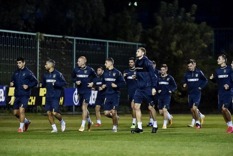 Игроков сборной Украины допустили к матчу с Испанией