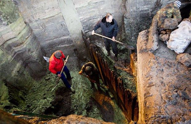 Под киевской площадью обнаружили фрагмент древнего города