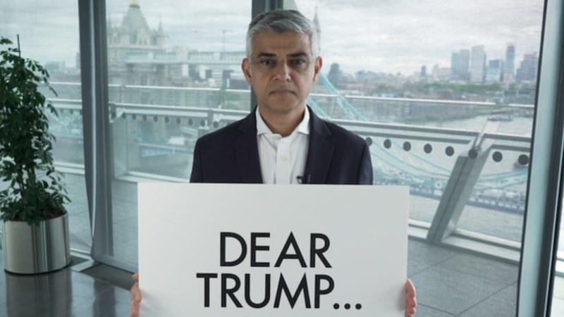 """Мэр Лондона ответил на слова Трампа об """"отмороженном неудачнике"""""""