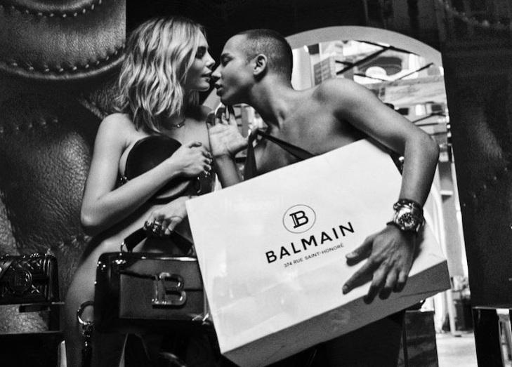 Модель Кара Делевинь снялась в откровенной фотосессии с дизайнером Balma...