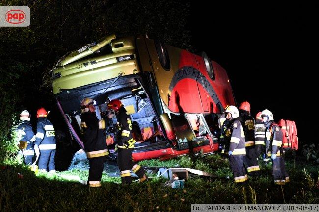 Украинский автобус попал в ДТП в Польше, трое погибших