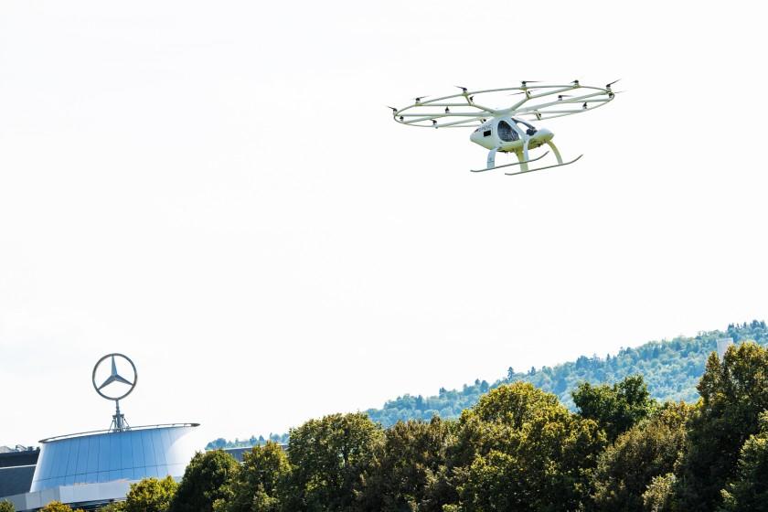 Volocopter испытал в Штутгарте летающее такси