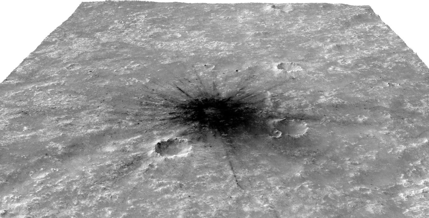 На Марсе найден свежий кратер