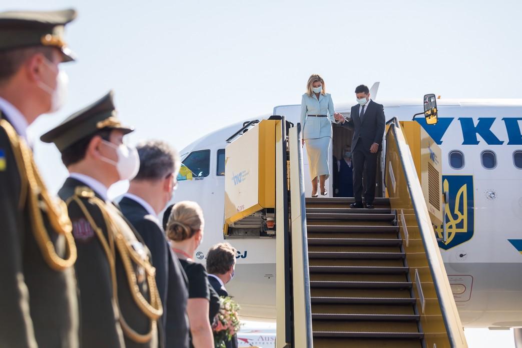 Зеленский прибыл в Австрию с официальным визитом