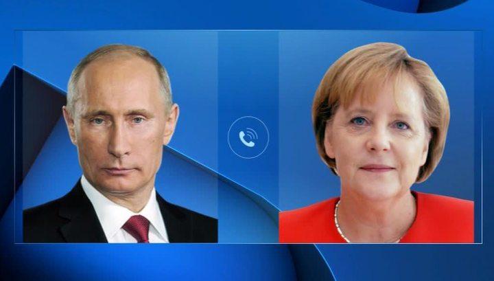 Меркель и Путин по телефону обсудили ход выполнения Минских соглашений