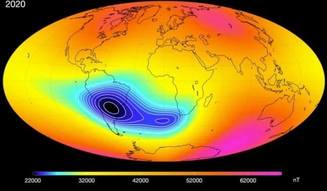 Вмятина в магнитном поле. NASA отслеживает аномалию, которой может быть...