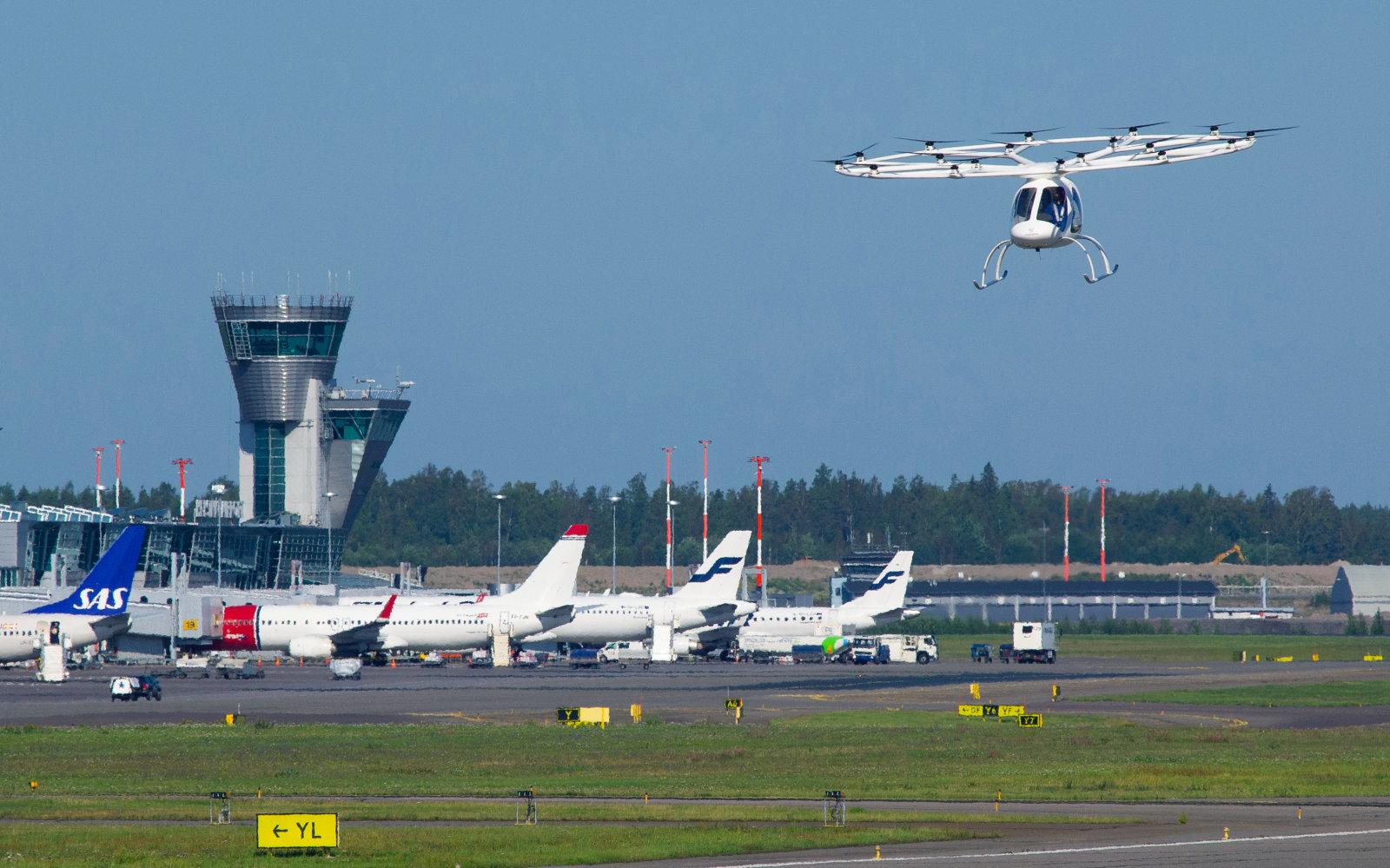 Volocopter испытал летающее такси в аэропорту Хельсинки