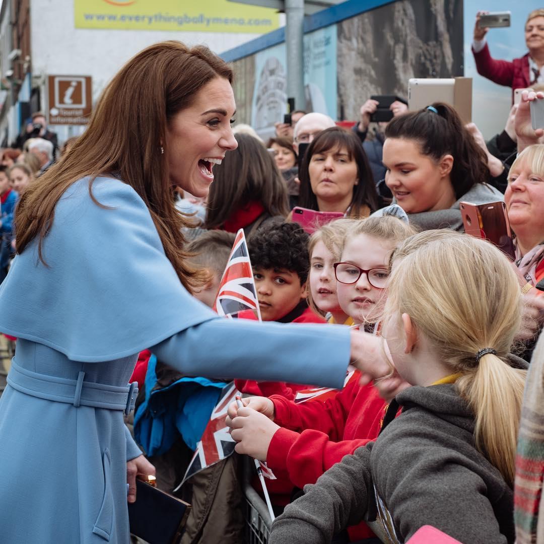 Кейт Миддлтон, фото, голубое пальто