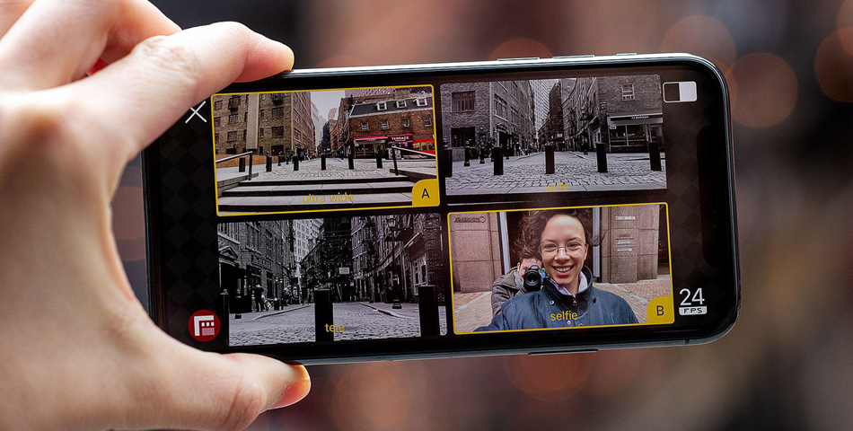 В AppStore появилось приложение, позволяющее iPhone снимать на две камер...