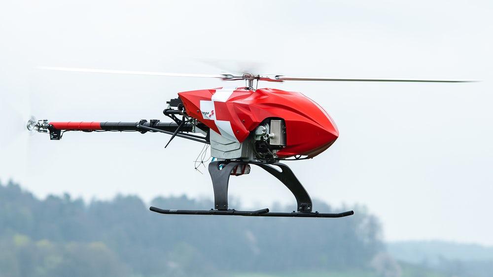 В Швейцарии разработали беспилотный вертолет для поисковых операций