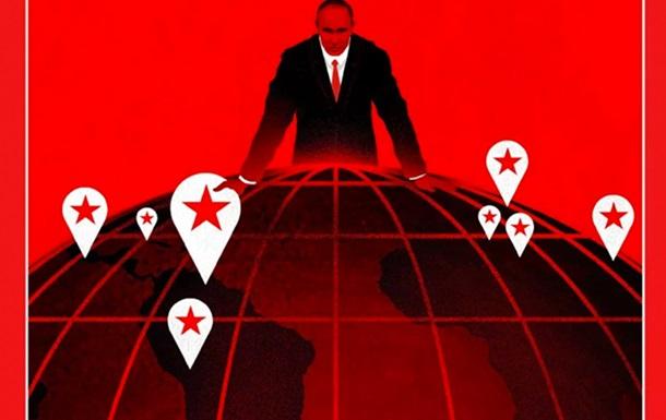 На обложку журнала Time попал Путин в кроваво-черных тонах