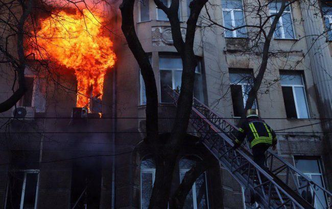 Жертв может быть больше. Зеленский прокомментировал пожар в Одесском колледже
