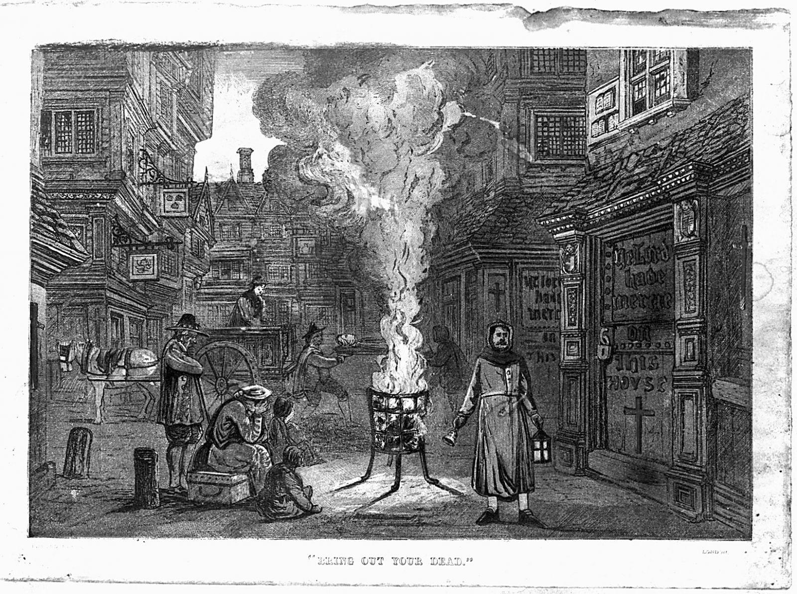 великая чума, Лондон, выносите своих мертвецов