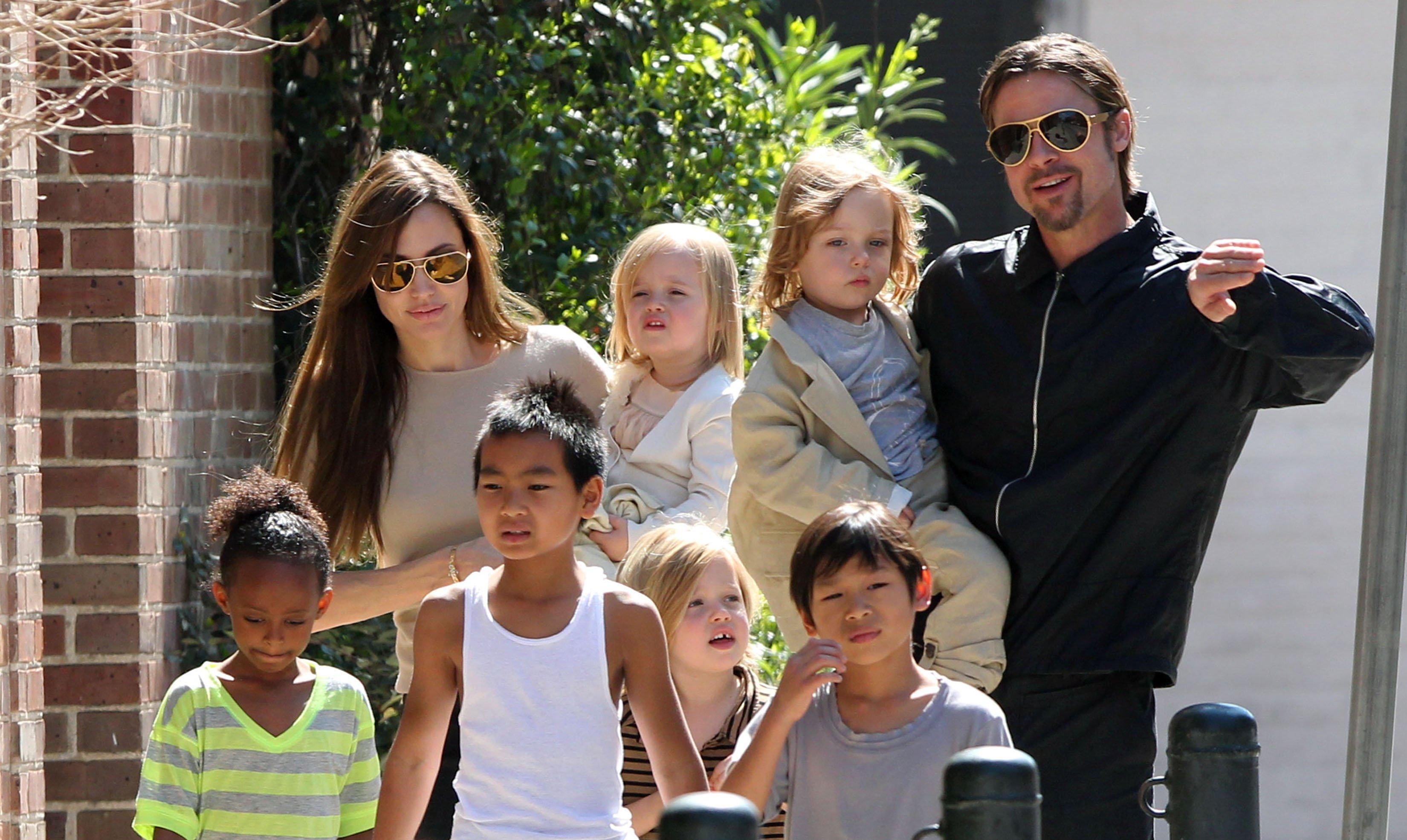 Брэд Питт и Анджелина Джоли полюбовно поделили детей