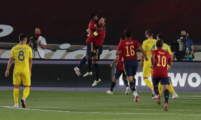 Испания громит Украину во втором туре Лиги наций 4:0