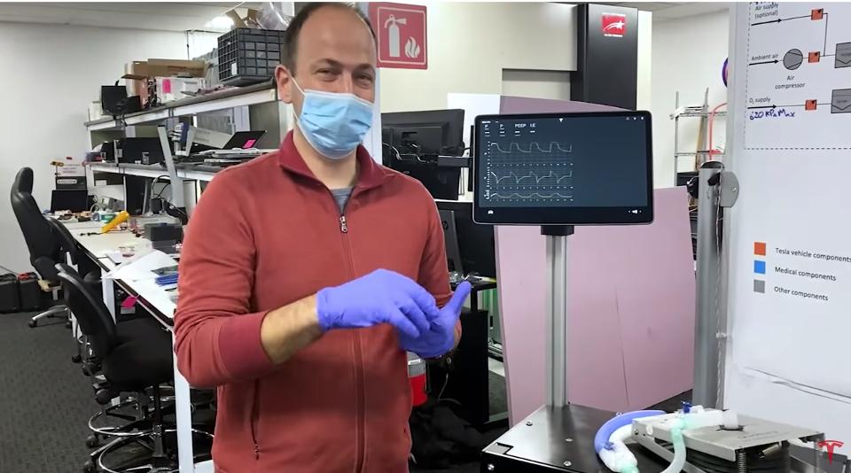 Tesla показала прототип ИВЛ-аппарата собственной разработки