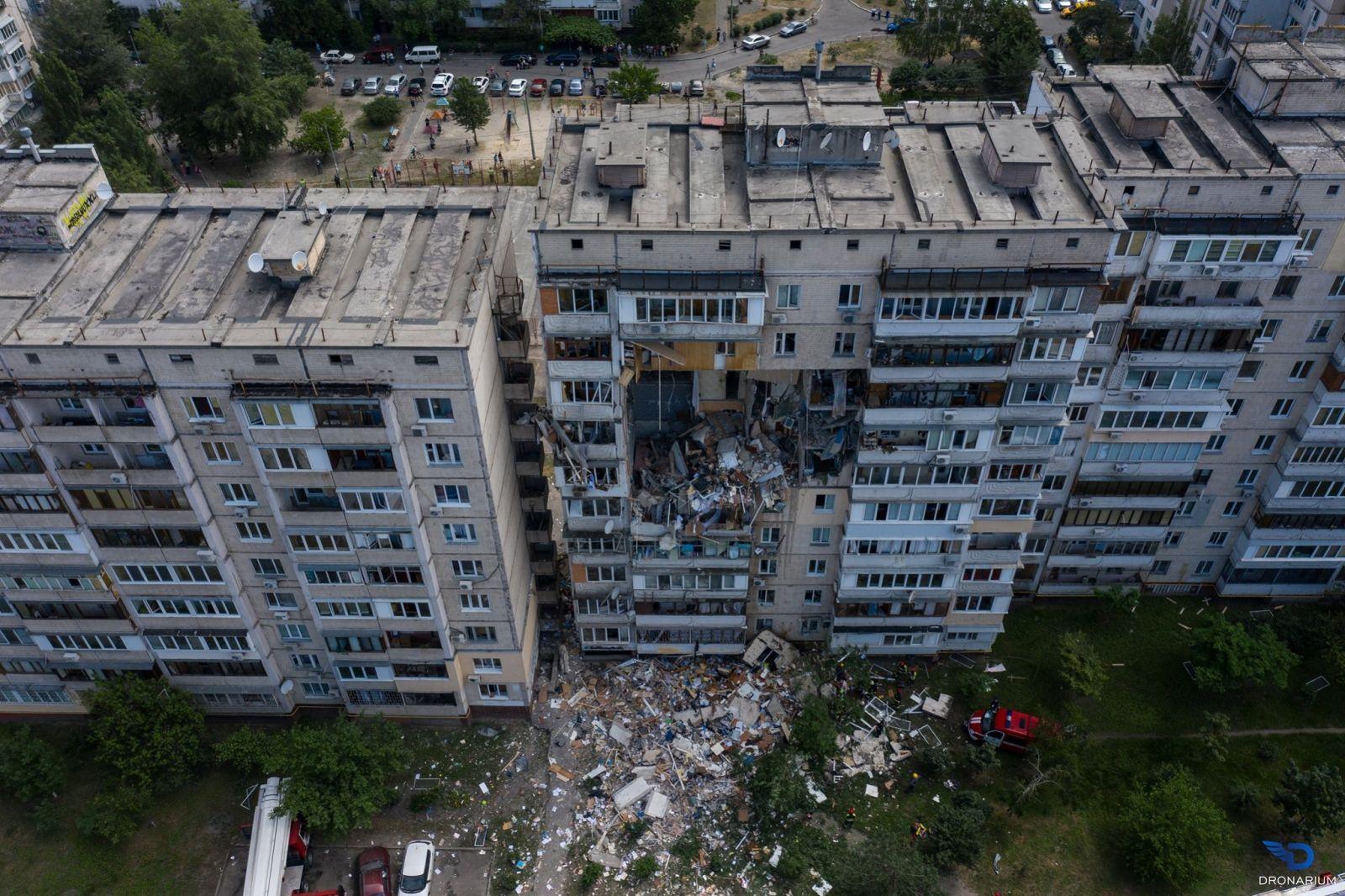 Взрыв на Позняках в Киеве: существует угроза обрушения здания