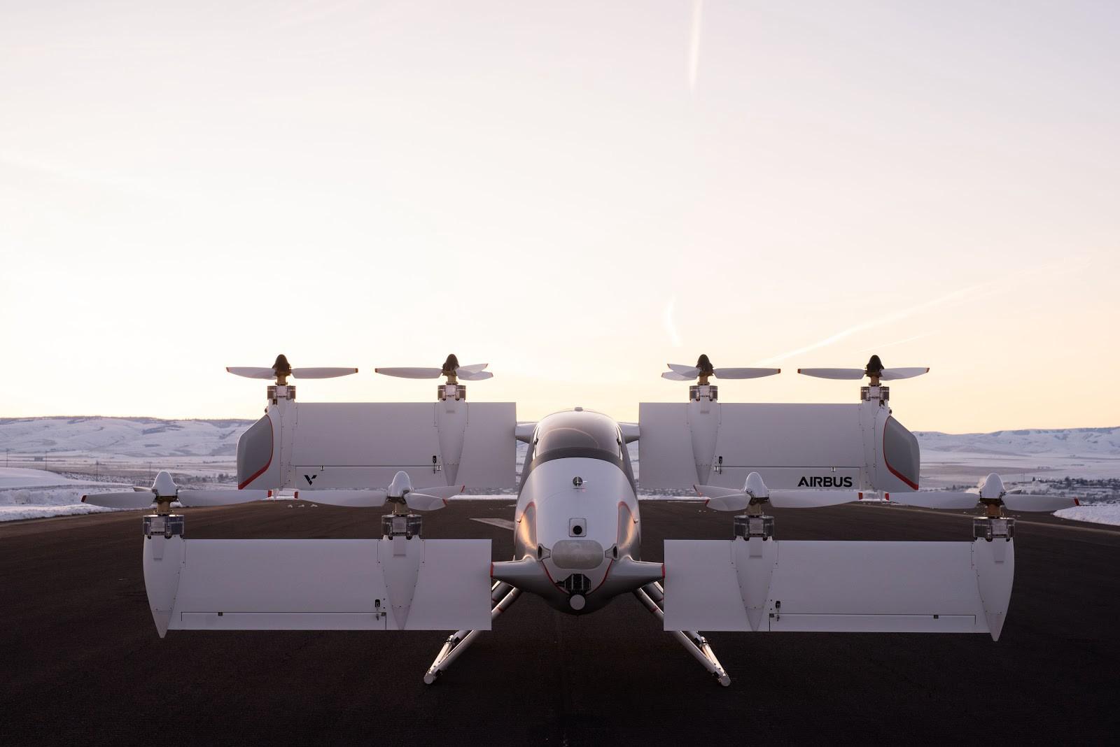 Airbus показал летающее беспилотное такси Vahana