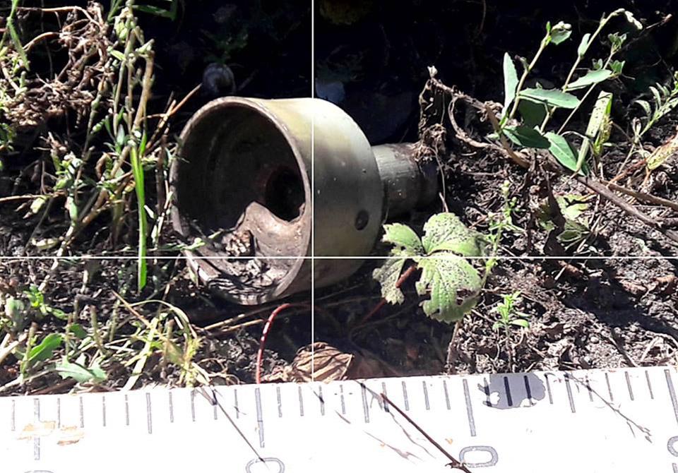 Штаб АТО показал последствия обстрела Красногоровки танковыми бронебойны...