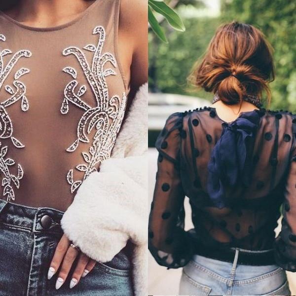 Прозрачные блузы, тренды, 2020, мода, фото, весна, лето