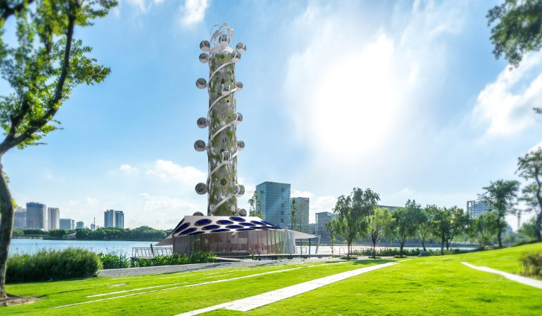 """В Нидерландах показали концепт спиральной """"башни обозрения"""" на солнечной..."""
