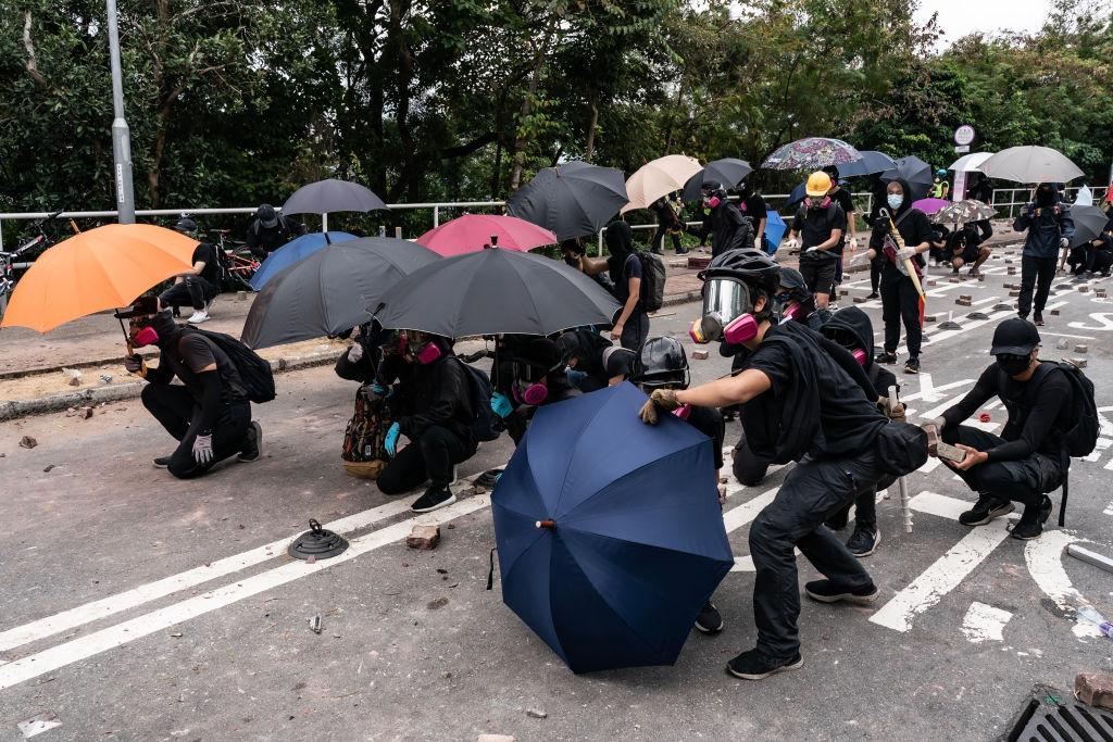 Битва за университет. Фоторепортаж: как гонконгские студенты две недели...