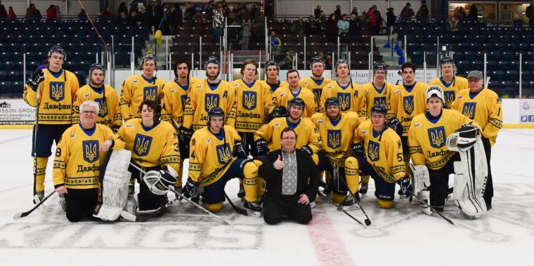 Канадские хоккеисты очередной раз вышли на лед в форме с украинской симв...
