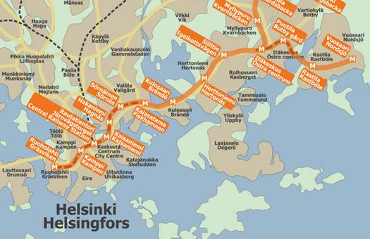 В Хельсинки затопило метро