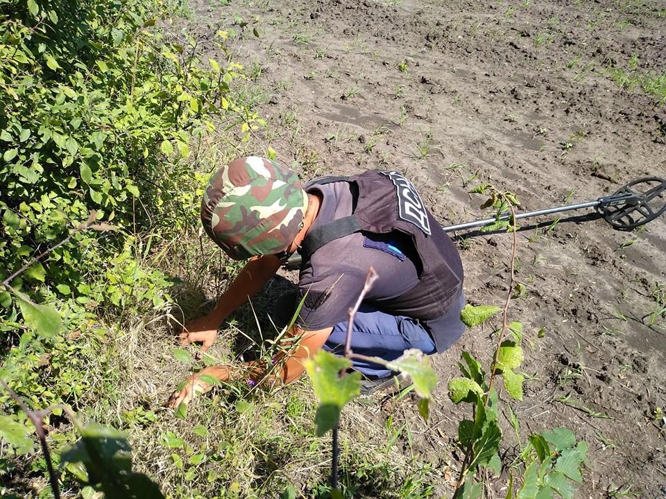 У Станицы Луганской нашли 35 мин и боеприпасов за сутки