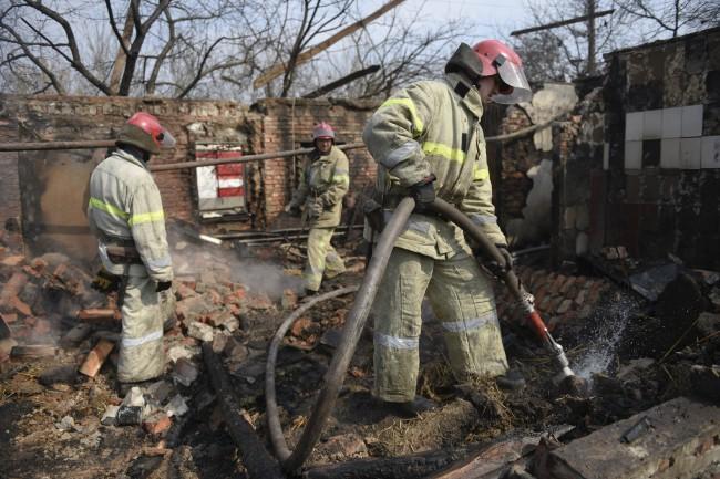 Пожар в Балаклее полностью потушили, – Минобороны