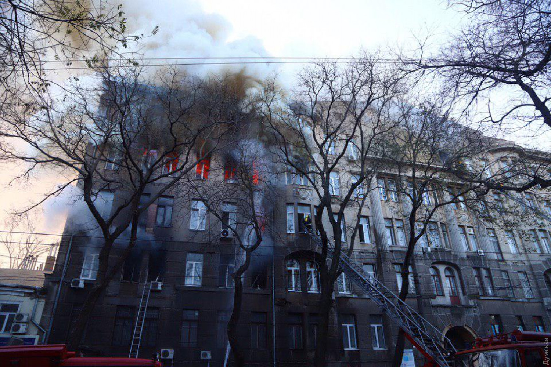 Пожар в Одессе: скончалась преподавательница колледжа (обновлено)