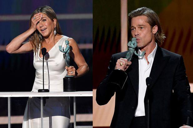 Модная связь бывших супругов: Дженнифер Энистон и Брэда Питта одевают од...
