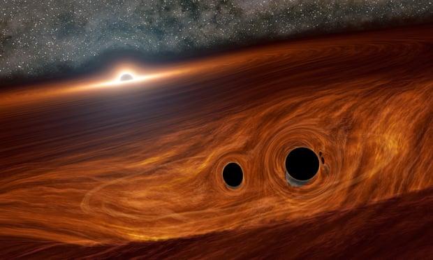 Слияние черных дыр сияет в триллионы раз ярче Солнца, – ученые