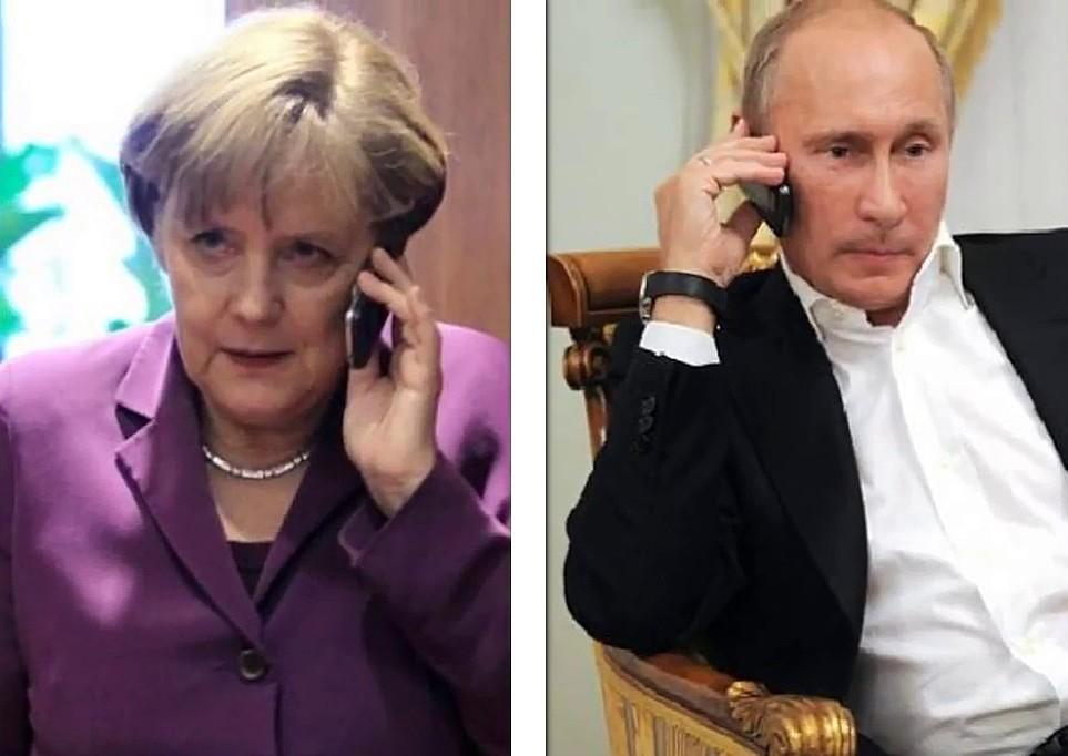 Путин предупредил Ангелу Меркель не лезть в дела Беларуси