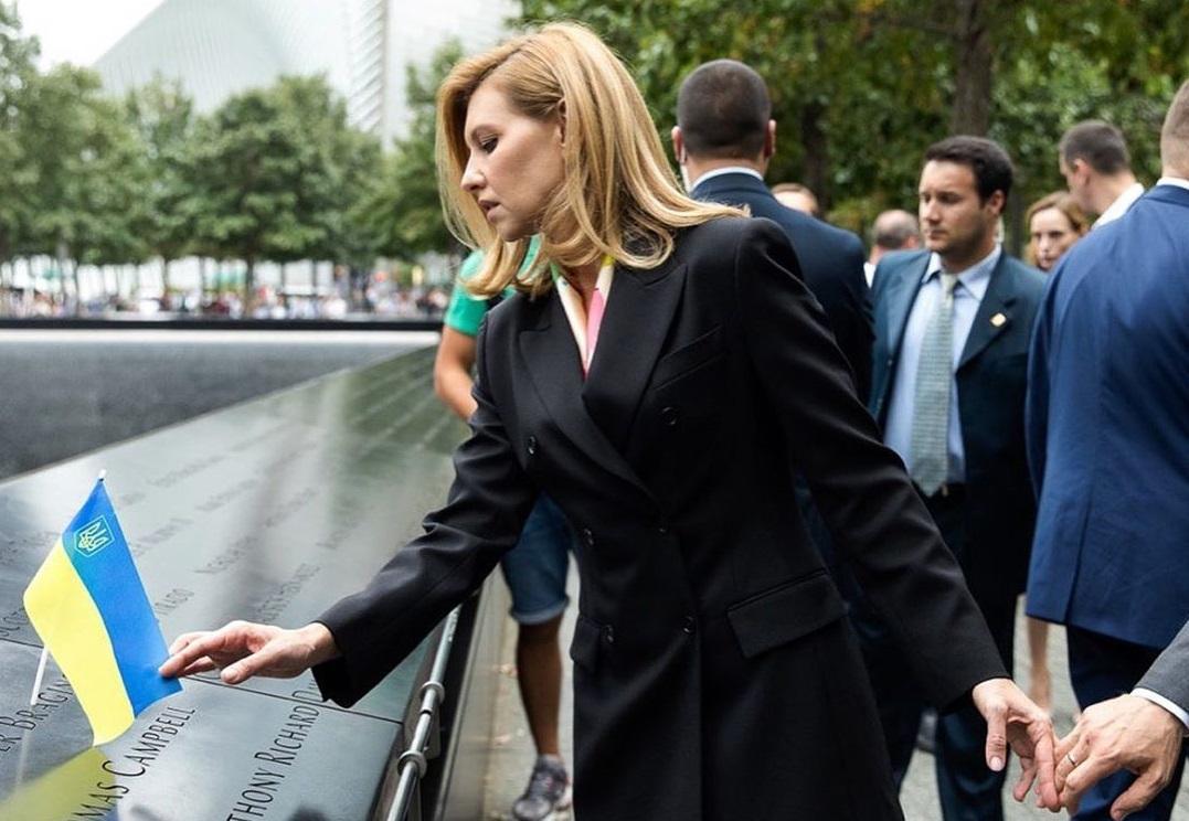 Елена Зеленская возложила цветы к Национальному мемориалу 11 сентября в...