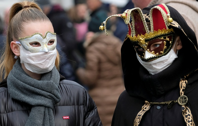 карнавал, венеция, коронавирус, италия