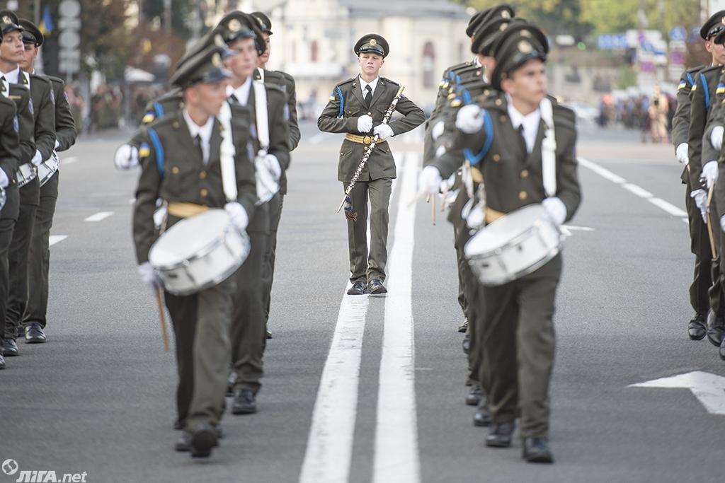 В Киеве отрепетировали военный парад