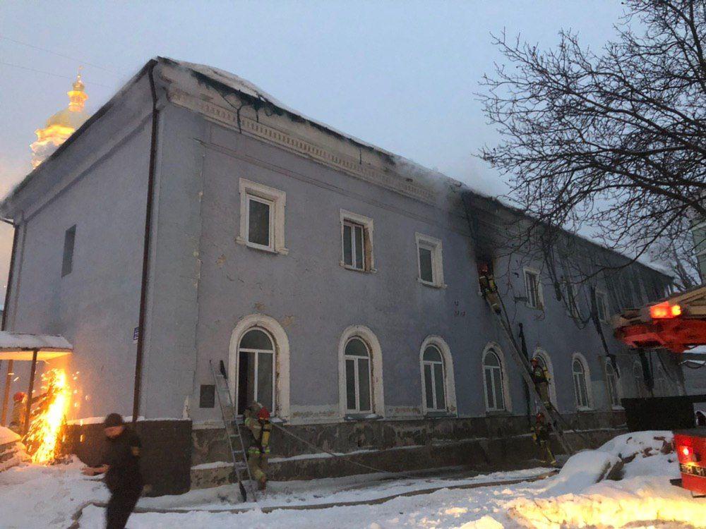 В Киево-Печерской лавре рассказали подробности пожара