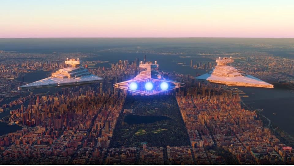 Фанат представил, как бы выглядел космический флот из Star Wars на Земле