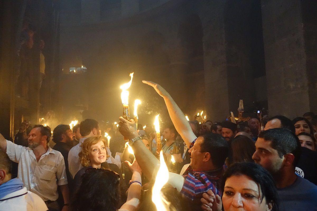 В день Благовещения в Иерусалиме сошел Благодатный огонь