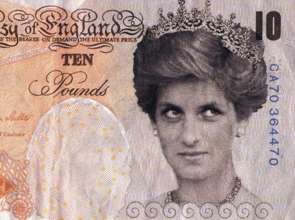 Поддельная купюра Бэнкси с принцессой Дианой пополнила коллекцию Британс...
