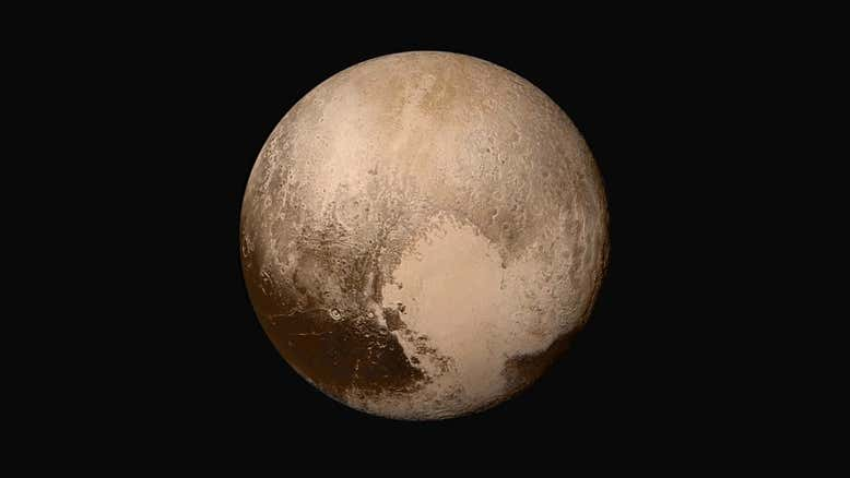 """Из-за """"сердцебиения"""" Плутона его атмосфера вращается в неправильном напр..."""
