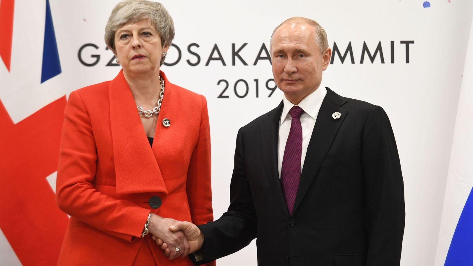 Последняя встреча Терезы Мэй с Путиным была холодной