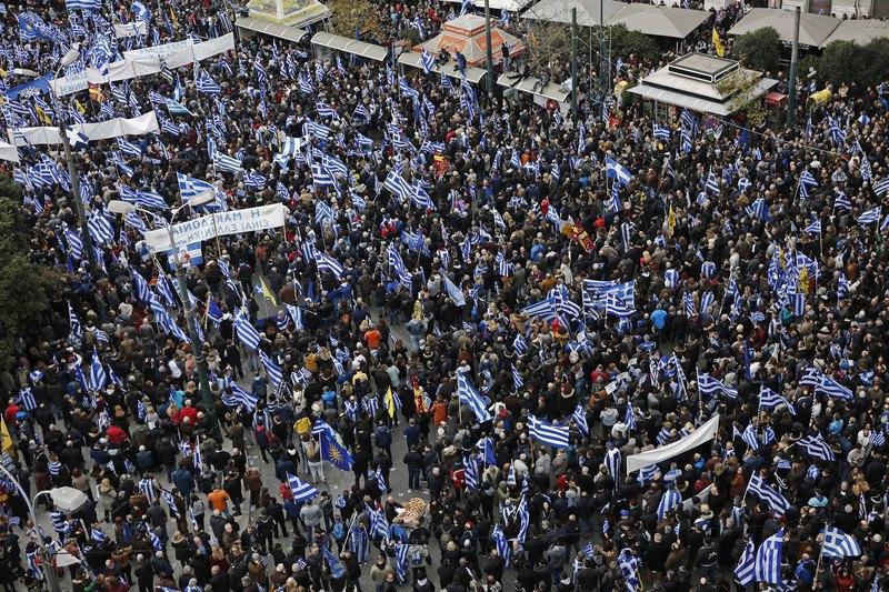 В Афинах протестуют против соглашения с Македонией