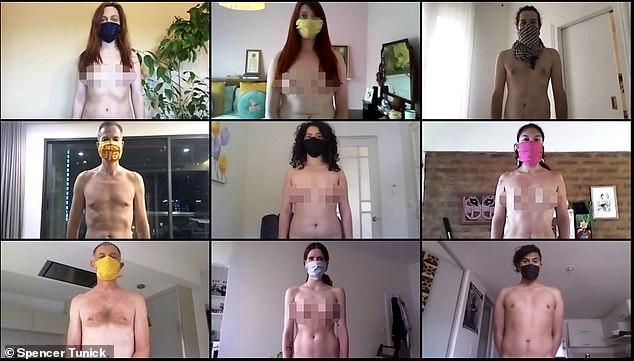 """""""Мастер наготы"""" Спенсер Туник организовал обнаженную фотосессию через ви..."""