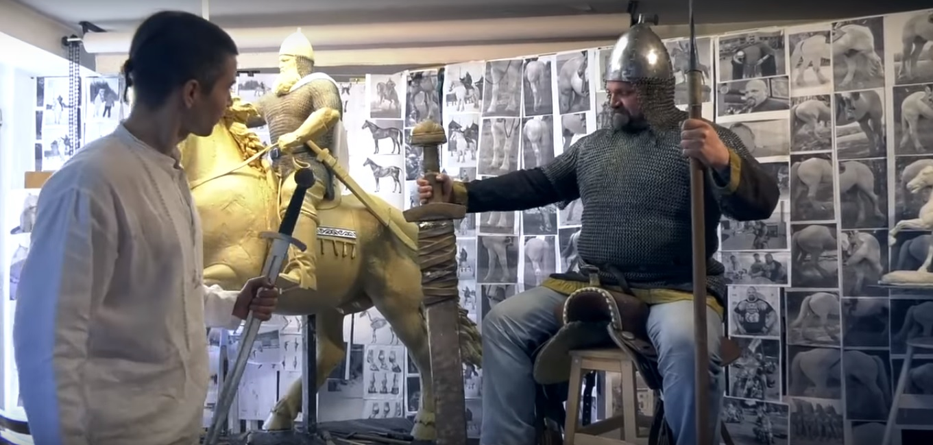 Василия Вирастюка увековечат в образе Ильи Муромца в киевском парке