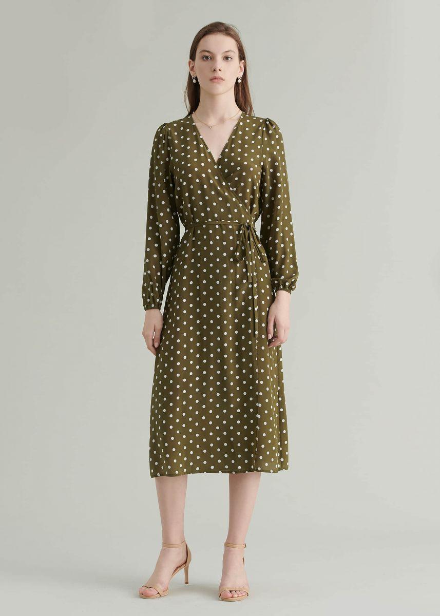 Polka dots принт, платье в горошек, фото, тренды моды, весна-лето 2020