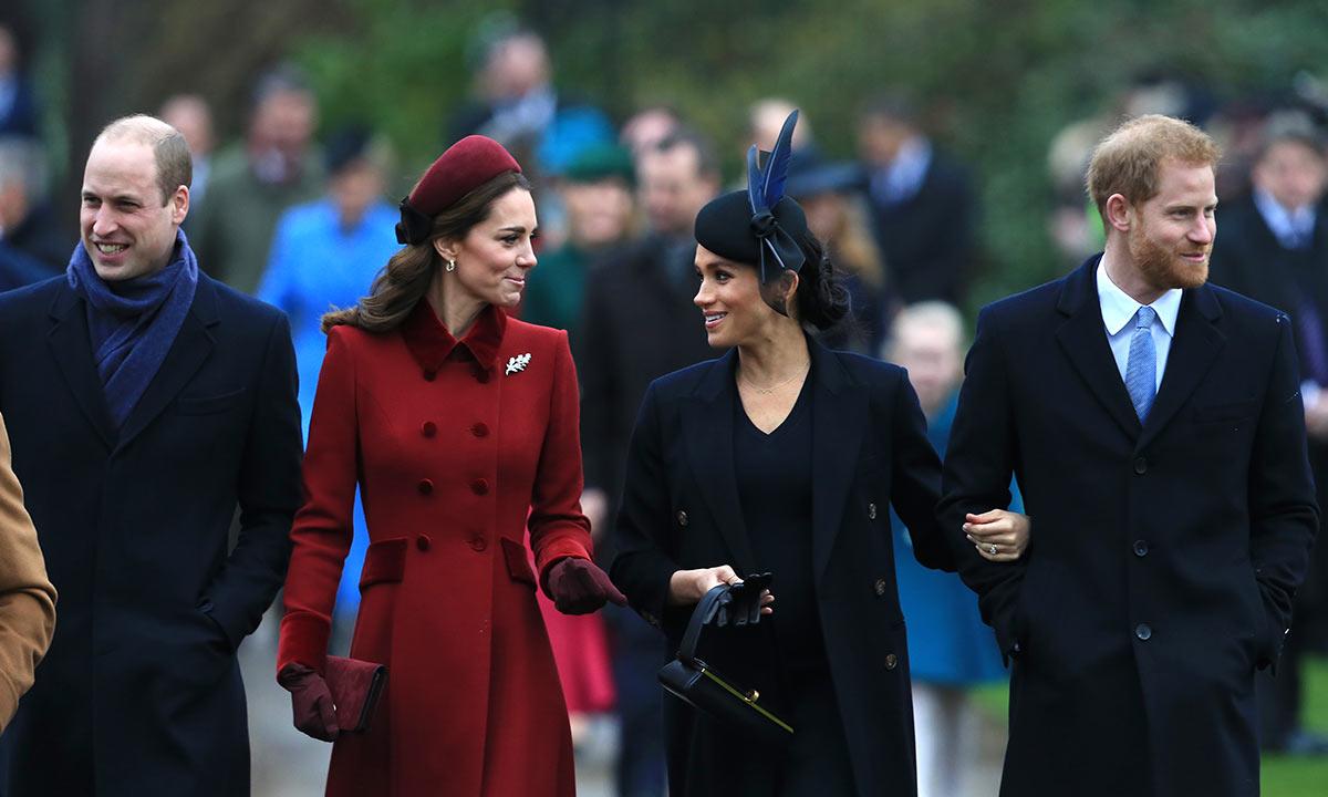Принц Уильям и Кейт Миддлтон нанесли визит беременной Меган Маркл