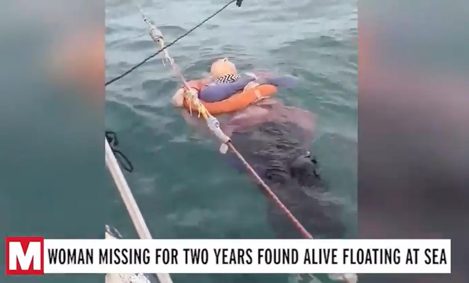 Пропавшую без вести два года назад женщину нашли дрейфующей в море
