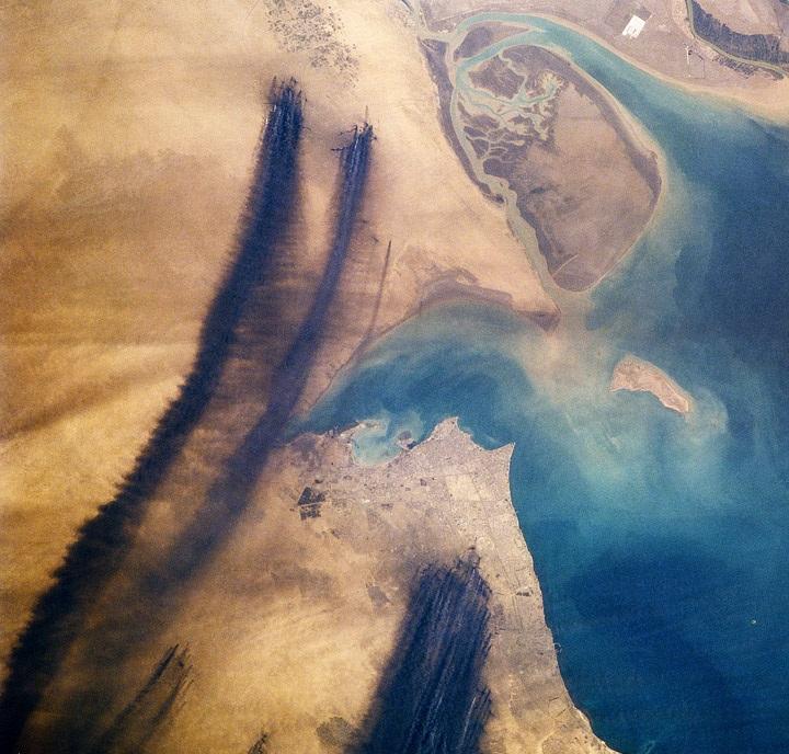 нефтяные пожары в Квейте, разлив нефти, пожары в Кувейте